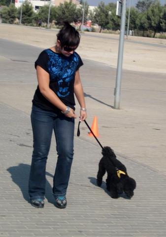 Marta y su cachorrita Perla