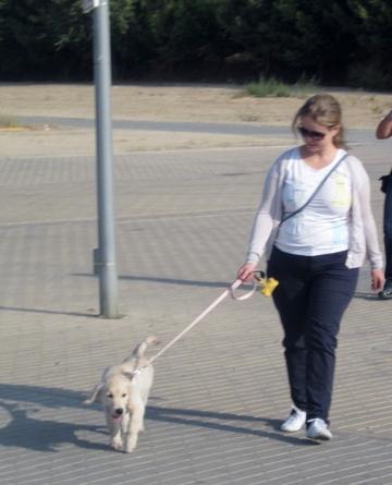 Patricia y su cachorro Nora